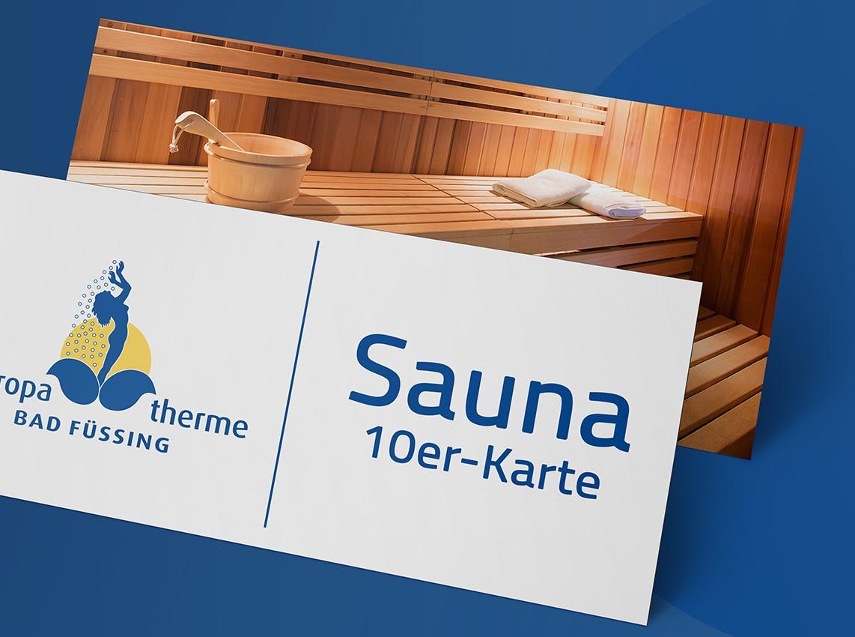 Gutschein: 10er-Karte Sauna (ohne Therme)