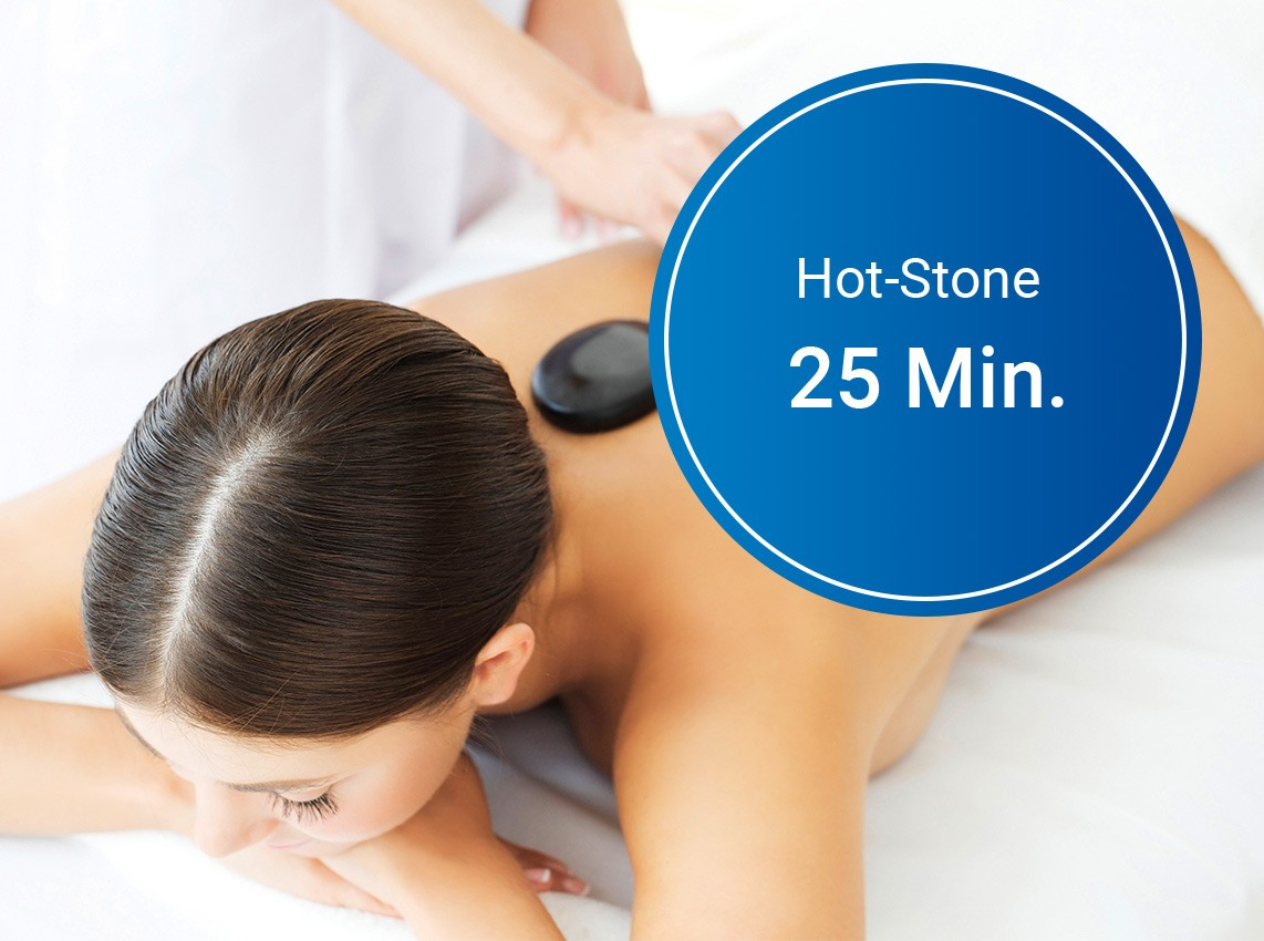 Gutschein: Hot-Stone-Massage (25 Min.)