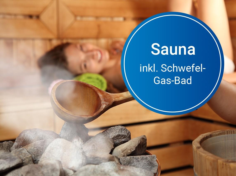 Wertgutschein: Sauna + Schwefel-Gas-Bad inkl. Thermalbad